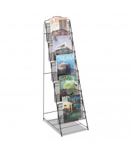 "Safco Onyx 46"" H 6-Compartment Magazine Floor Rack"