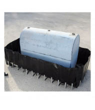 "Ultratech Flexible Containment Sumps with 3/4"" Drain (400 gallon model shown)"