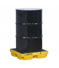 "Just-Rite Ecopolyblend 28652 1-Drum 25"" W x 25"" L Accumulation Center, 12 Gallons, Yellow"