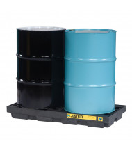 "Just-Rite Ecopolyblend 28655 2-Drum 49"" W x 25"" L Accumulation Center, 24 Gallons, Black"