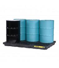 "Just-Rite Ecopolyblend 28659 6-Drum 73"" W x 49"" L Accumulation Center, 73 Gallons, Black"