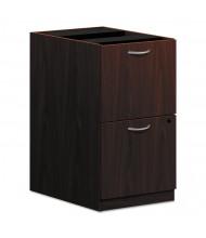 Basyx Laminate 2-Drawer File/File Pedestal, Mahogany