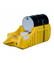 "Just-Rite Ecopolyblend 28664 32"" W x 72"" L Spill Containment Indoor or Outdoor Use Caddy, 66 Gallons, Yellow"