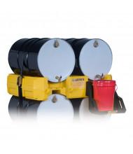 Just-Rite 28668 Drum Management Stack Module, Yellow (separate dispensing shelf shown)