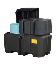 Just-Rite Ecopolyblend 28683 2-Drum Collection Center with Dual Covers and Forklift Channels
