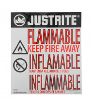 Just-Rite Haz-Alert 29002 Flammable Large Warning Label for Safety Cabinet