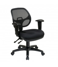 Office Star Pro-Grid Mesh-Back Fabric Mid-Back Ergonomic Task Chair