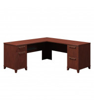 "Bush Enterprise 2910 72"" W Corner Straight Front Double Pedestal Office Desk (Shown in Harvest Cherry)"