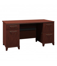 "Bush Enterprise 2960 60"" W Straight Front Double Pedestal Office Desk (Shown in Harvest Cherry)"