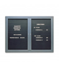 Quartet 2964LM Indoor 2 Door 4 ft. x 3 ft. Magnetic Enclosed Letter Directory Board Cabinet