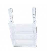 Deflect-o DocuPocket 3-Pocket Letter File Partition Set with Brackets, Clear