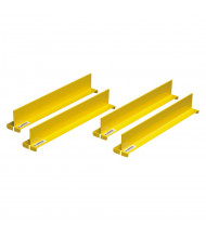"Just-Rite 29985 Shelf Dividers fit Shelf Depth of 14"", Set of 4, Yellow"