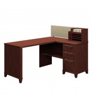 "Bush Enterprise 2999 60"" W Corner Straight Front Office Desk (Shown in Harvest Cherry)"