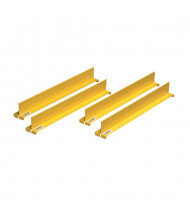 "Just-Rite 29990 Shelf Dividers fit Shelf Depth of 18"", Set of 4, Yellow"