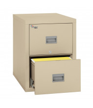 "FireKing Patriot 2-Drawer 31"" Deep 1-Hour Rated Fireproof File Cabinet, Legal (Shown in Parchment)"
