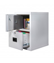 """FireKing Turtle Safe-In-A-File 2-Drawer 22"""" Deep 1-Hour Rated Fireproof File Cabinet, Letter & Legal"""