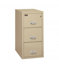 "FireKing 3-Drawer 31"" Deep 2-Hour Rated Fireproof File Cabinet, Letter - Shown in Parchment"