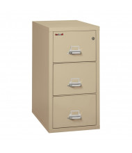 "FireKing 3-Drawer 31"" Deep 1-Hour Rated Fireproof File Cabinet, Legal - Shown in Parchment"