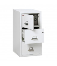 "FireKing Safe-In-A-File 3-Drawer 31"" Deep 1-Hour Rated Fireproof File Cabinet, Legal - Shown in Arctic White"
