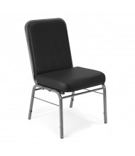 OFM Comfort Class 300-SV-VAM Big & Tall 300 lb. Anti-Microbial Vinyl Stacking Guest Chair (black)