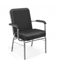 OFM Comfort Class 300-XL-VAM Big & Tall 500 lbs. Anti-Microbial Vinyl Stacking Guest Chair (black)