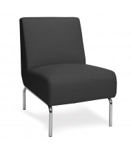 OFM Triumph Vinyl Club Chair, Armless (Shown in Black)