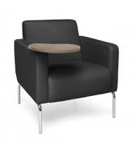 OFM Triumph Vinyl Club Chair, Right Tablet Arm (Shown in Black/Bronze)