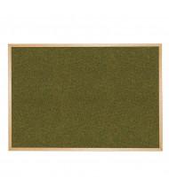 Best-Rite 300WM Splash-Cork 12 ft. x 4 ft. Wood Finish Bulletin Board - Shown in Green
