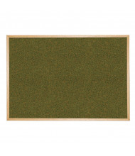 Best-Rite 300WH Splash-Cork 8 ft. x 4 ft. Wood Finish Bulletin Board - Shown in Green