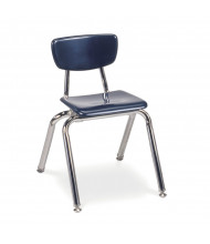"Virco 14"" Seat Height 4-Leg Hard Plastic Stacking School Chair"