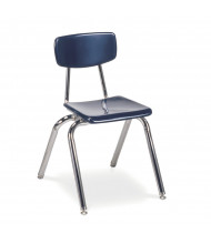 "Virco 16"" Seat Height 4-Leg Hard Plastic Stacking School Chair"