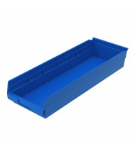 "Akro-Mils 4"" H Plastic Storage Bins (Shown in Blue)"
