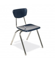 "Virco 18"" Seat Height 4-Leg Hard Plastic Stacking School Chair"