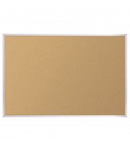 Best-Rite Valu-Tak Natural Cork 4 x 3 Aluminum Trim Bulletin Board