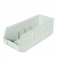 Akro-Mils 1800 Series AkroBin Plastic Storage Bins in Beige, 6 Pack