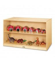 Jonti-Craft Double-Sided Island Classroom Storage Unit (example of use)