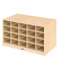 Jonti-Craft Double-Sided Single & 20 Cubbie-Tray Island Classroom Storage Unit