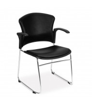 OFM 310-VAM-A Multiuse Anti-Microbial Vinyl Stacking Guest Chair (in black)