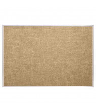 Best-Rite 312AM Vinyl Covered Cork 12 x 4 Aluminum Finish Bulletin Board (Champagne)