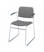 "KFI Seating 311 Fabric 1.5"" Padded Seat Stacking Chair (Grey)"