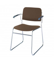 "KFI Seating 311 Vinyl 1.5"" Padded Seat Stacking Chair (Brown)"