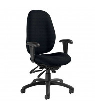 Global Malaga 3140-3 Fabric Multi-Tilter High-Back Office Chair. Shown in Black.
