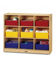 Jonti-Craft 9 Tub Large Mobile Classroom Storage Unit with Colored Tubs (example of use)