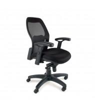 Mayline Mercado 3200 Synchro-Tilt Mesh-Back Fabric Mid-Back Task Chair