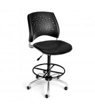 OFM Stars 326-VAM-DK Anti-Microbial Plastic-Back Vinyl Drafting Chair, Footring (Shown in Black)