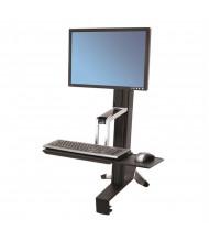 Ergotron WorkFit-S 33344200 Sit-Stand Converter Desk Mount Workstation, Black