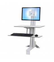 Ergotron WorkFit-S 33350211 Sit-Stand Workstation with Worksurface+, White