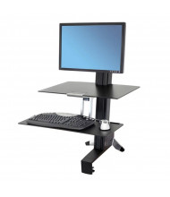 Ergotron WorkFit-S 33351200 Sit-Stand Workstation with Worksurface, Black