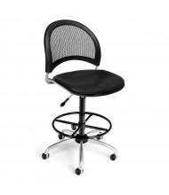OFM Moon 336-VAM-DK Anti-Microbial Mesh-Back Vinyl Drafting Chair, Footring (Shown in Black)