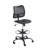 Safco Vue 3395 Mesh-Back Vinyl Drafting Chair, Footring